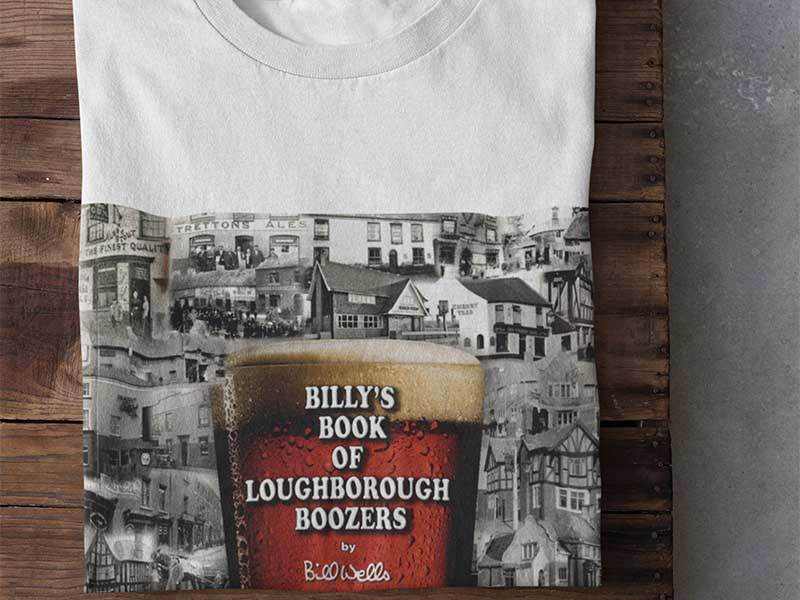 Loughborough t-shirt printed using DST transfers