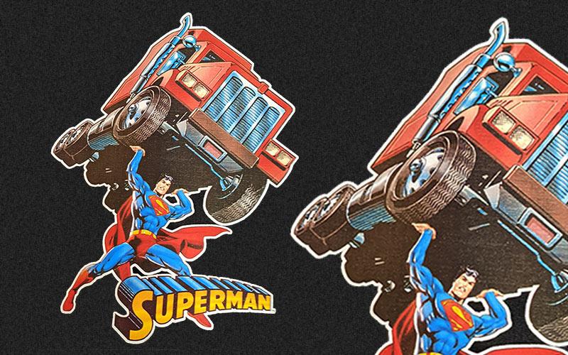 Superman digital screen transfer example